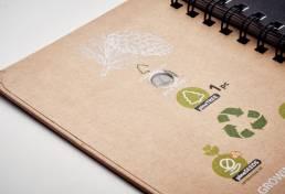 gadget ecologici semi pino notebook personalizzabili padova